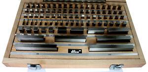 Slip Gauges, Blocks E81 Set Imperial gages 81pc WorkShop VAT Invoice Inc