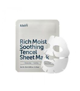 KLAIRS-Rich-Moist-Soothing-Tencel-Sheet-Mask-10pcs-Soothing-nonirritant-ceramide