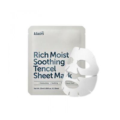 KLAIRS Rich Moist Soothing Tencel Sheet Mask 10pcs Soothing nonirritant ceramide