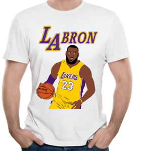 best service 14412 ab8d2 Details about New Lebron James New White Shirt NBA Player La Lakers Men  Women Size S - 7XL