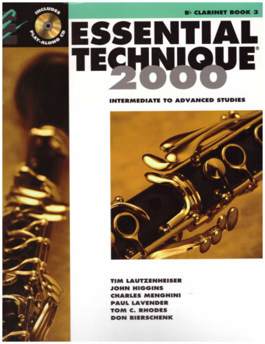 Clarinet Method Book 3 Essential Elements Technique Band with CD Intermediate