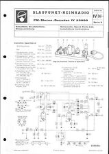 Blaupunkt Service Manual für FM-Stereo-Decoder IV 23900