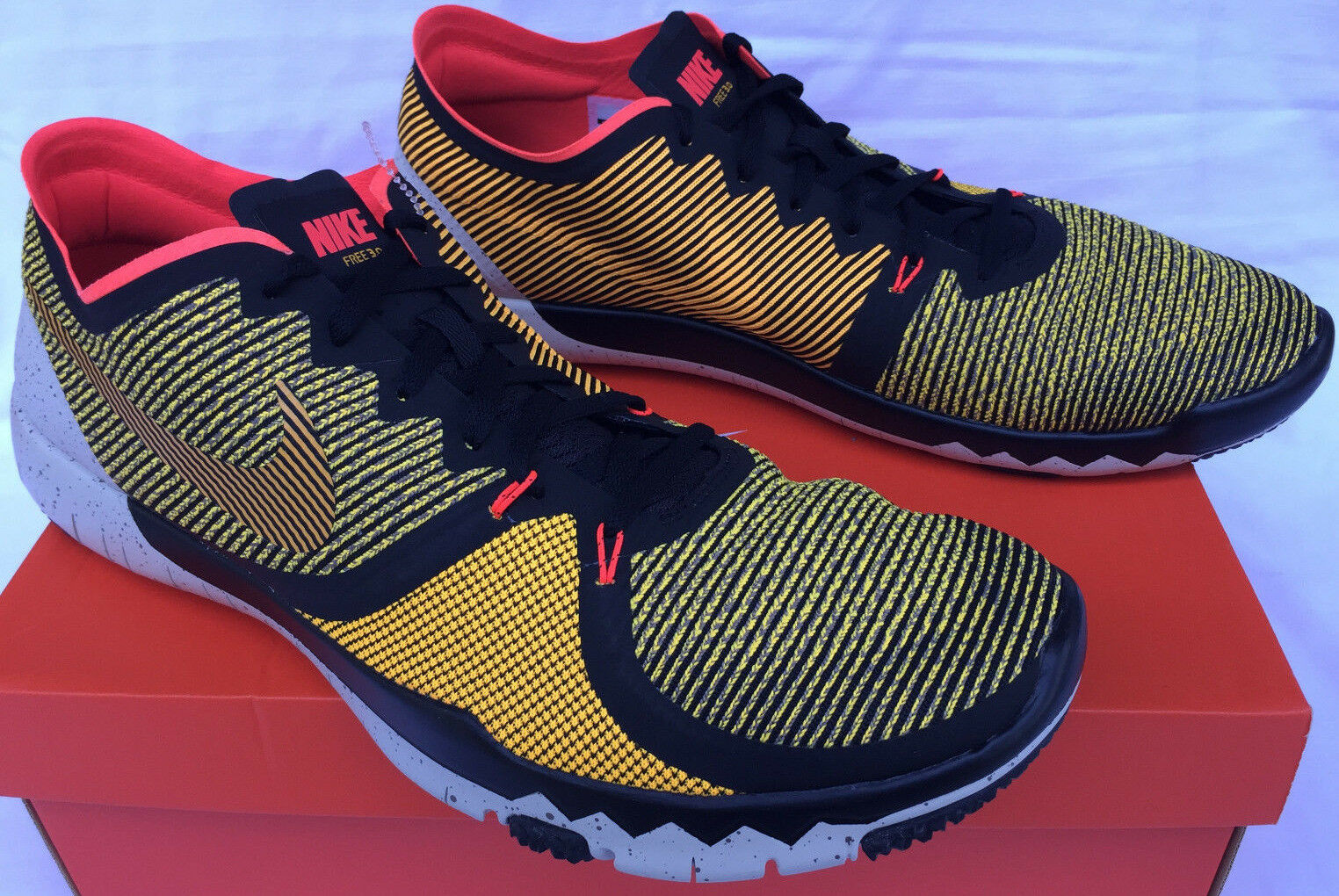 Nike Free Trainer 3.0 V4 AMP 749374-800 Lazer Marathon Running Shoes Men's 14