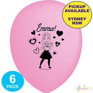 THE-WIGGLES-PARTY-SUPPLIES-6-PINK-LATEX-BALLOONS-EMMA-BIRTHDAY-DECORATIONS