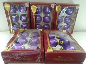 29-Vintage-The-Victorian-Collection-Christmas-Ornaments-Purple-Made-In-USA