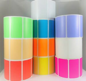 """Zebra Compatible Print Shipping Address Direct Thermal Labels 2.5/""""x1/"""",20 Rolls"""