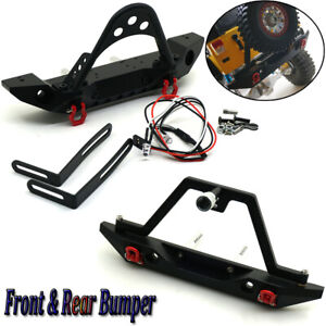 Metal Front Rear Bumper Winch Mount with Shackles for Axial SCX10 1//10 RC Car