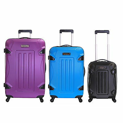 Set of 3 Hard Sided Shell 4 Spinner Wheels Trolley Luggage Cases Suitcases Set