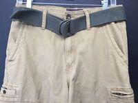 Wearfirst Beige Tan Men Cargo Belted Shorts W30