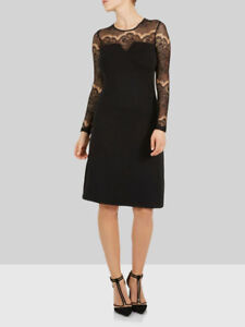Y-A-S-Tight-Fit-Robe-Dress-Black-Size-UK-14-rrp-50-DH172-HH-06