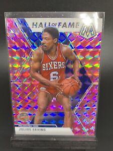 Julius Erving Dr J 2019-20 Panini Mosaic Basketball Pink Prizm Hall Of Fame #288
