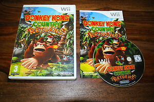 Jeu-DONKEY-KONG-COUNTRY-RETURNS-pour-Nintendo-Wii-PAL-COMPLET-CD-OK