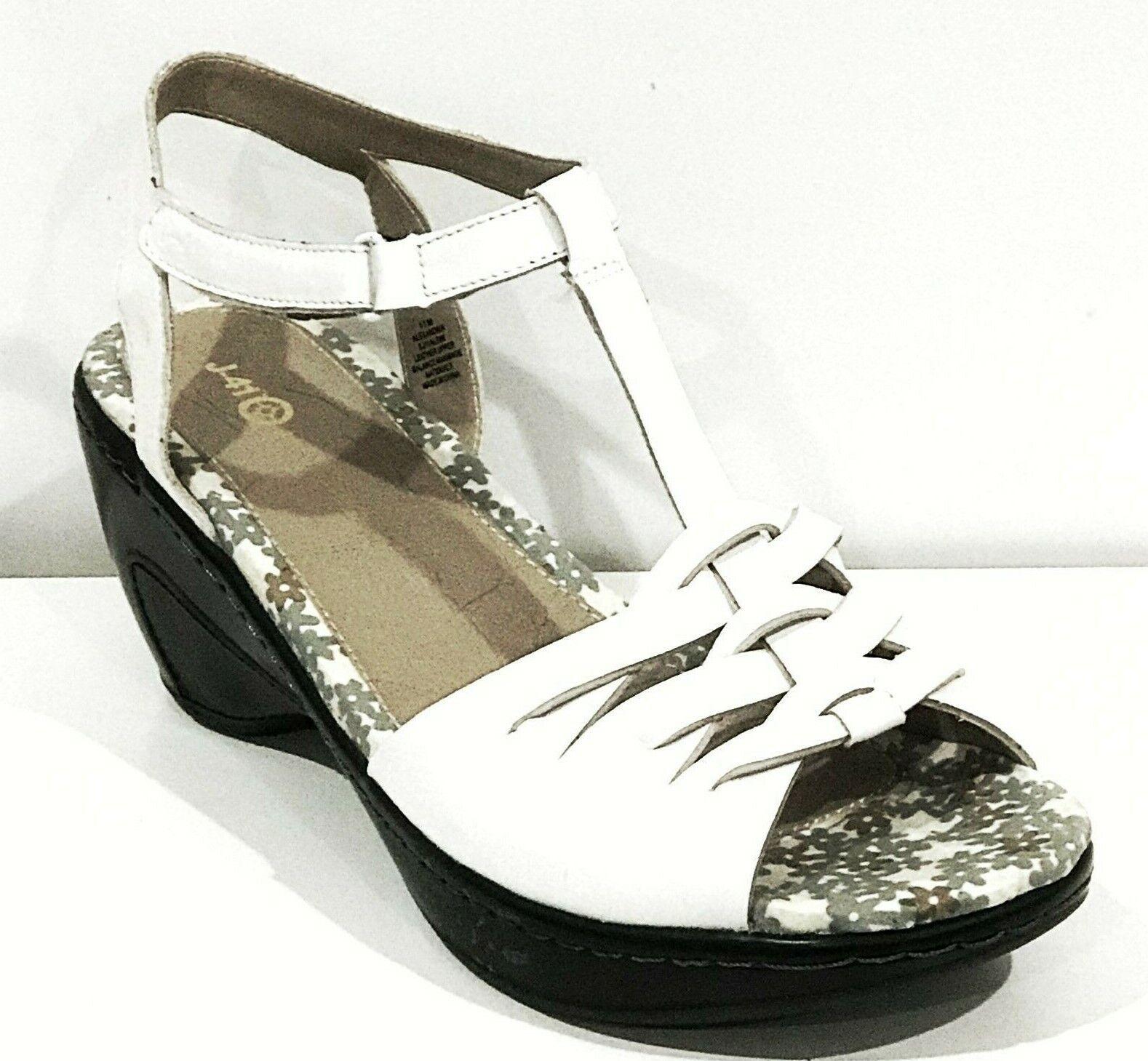 J-41 Femme ALEXANDRIA Platfor Wedge Sandales Chaussures Blanc 11 New in Box