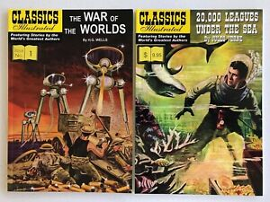 Classics-Illustrated-Softcovers-War-of-the-Worlds-20-000-Leagues-Under-the-Sea