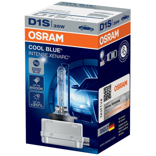 D1S NEUF OSRAM Xenarc COOL BLUE INTENSE 6000K Xenon AMPOULE LAMP ( Single )