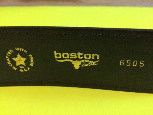 "/""NEW/"" BOSTON LEATHER GARRISON BELT 1.75/"" LAW ENFORCEMENT BLACK 6505 USA SIZE 50"