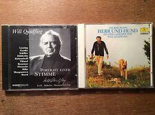 Will Quadflieg [2 CD Alben] Thomas Mann - Herr und Hund + Portrait einer Stimme
