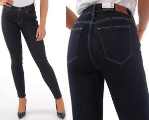 Wrangler-Damen-Jeanshose-Body-Bespoke-Skinny-Rinsewash-Marineblau-W26-W34