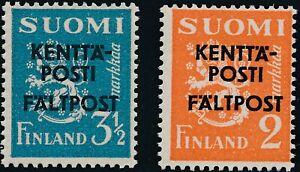 Stamp Finland Sc M2-3 WWII 1941 Military Feldpost Kentta Posti Faltpost MNH