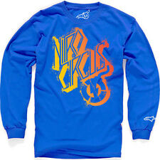 Alpinestars Skewed Long Sleeve Tee (M) Royal Blue