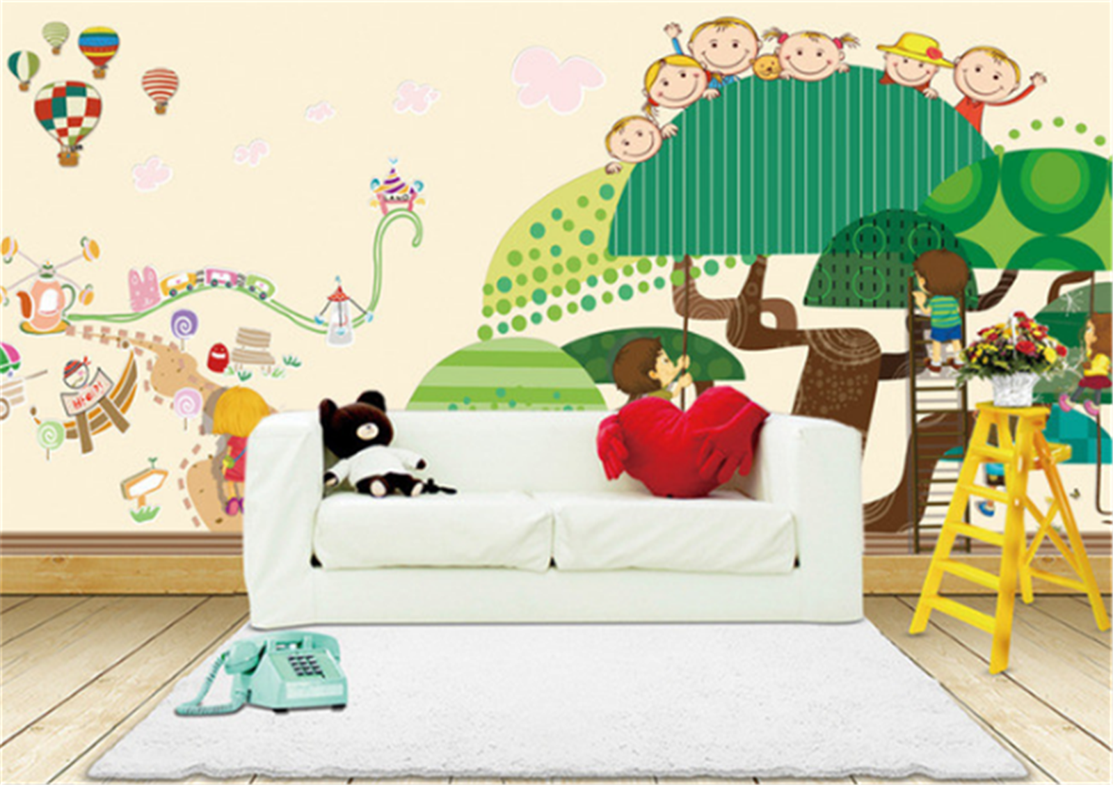 3D Paradies Baum Kinder 85 Tapete Wandgemälde Tapeten Bild Familie DE Lemon   Deutschland München    Passend In Der Farbe    Qualität
