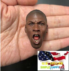 "Roaring Head Sculpt For 12/"" Hot Toys Enterbay Figure 1//6 Michael Jordan 2.0 Ver"