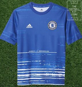 0d6b27b1d388 Image is loading Chelsea-Training-Shirt-Official-adidas-Football-Training -Top-