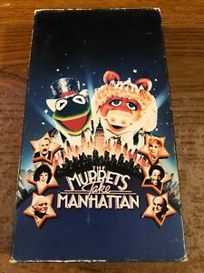 The-Muppets-Take-Manhattan-VCR-VHS-Tape-Movie-Cartoon-G-Used