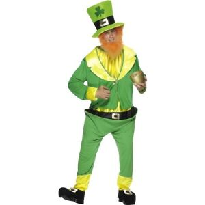 Men/'s New Sheamus Craic Costume Funny Fancy Dress Stag Night Irish Leprechaun