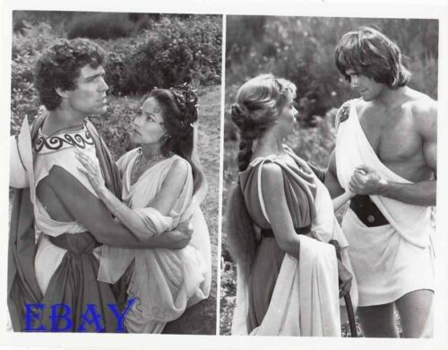 ! Duncan Regehr barechested VINTAGE Pho Last days Of Pompeii 2 images on 1 photo