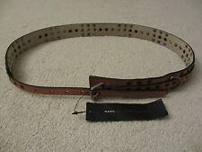 $158 NWT MARC BY MARC JACOBS Women's Italian Camel Leather Belt Size M L M491702