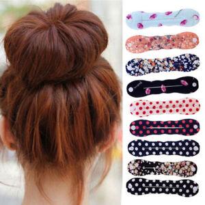 Women-Girls-Sponge-Hair-Twist-Styling-Clip-Stick-Bun-Maker-Braid-Magic-Tool-NEW