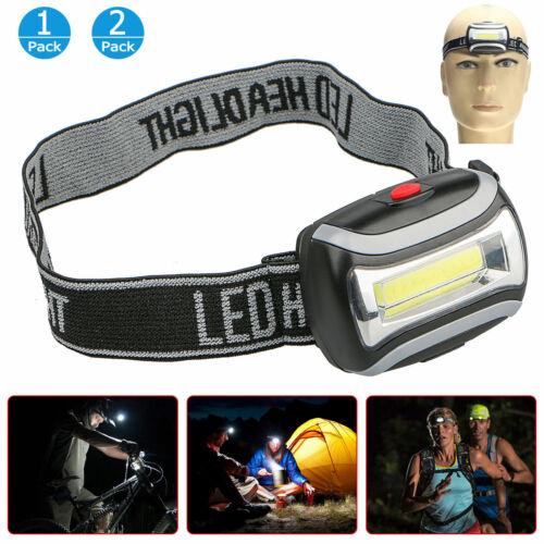 60000lm Tactical Headlamp COB LED Headlight Flashlight AAA Head Torch Lamp Light