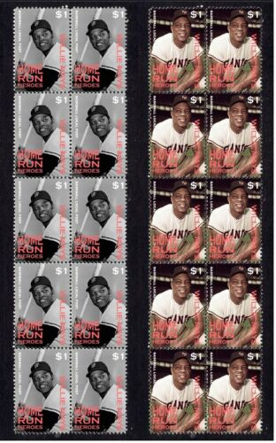 WILLIE MAYS SAN FRANCISCO GIANTS HRUN HEROES VIGNETTE STAMPS 2