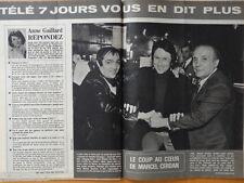 MARCEL CERDAN JUNIOR JR, DRUCKER & JAKE LA MOTTA Coupure presse 1981 Clippings