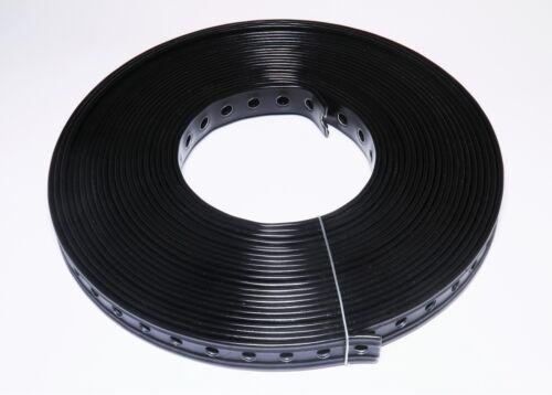 kunststoffummantelt schwarz 10 Rollen Lochband 19 mm// Stahl