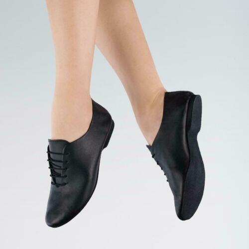 New Dance Depot Full Suede Sole Soft Leather Jazz Shoes Black UK 3