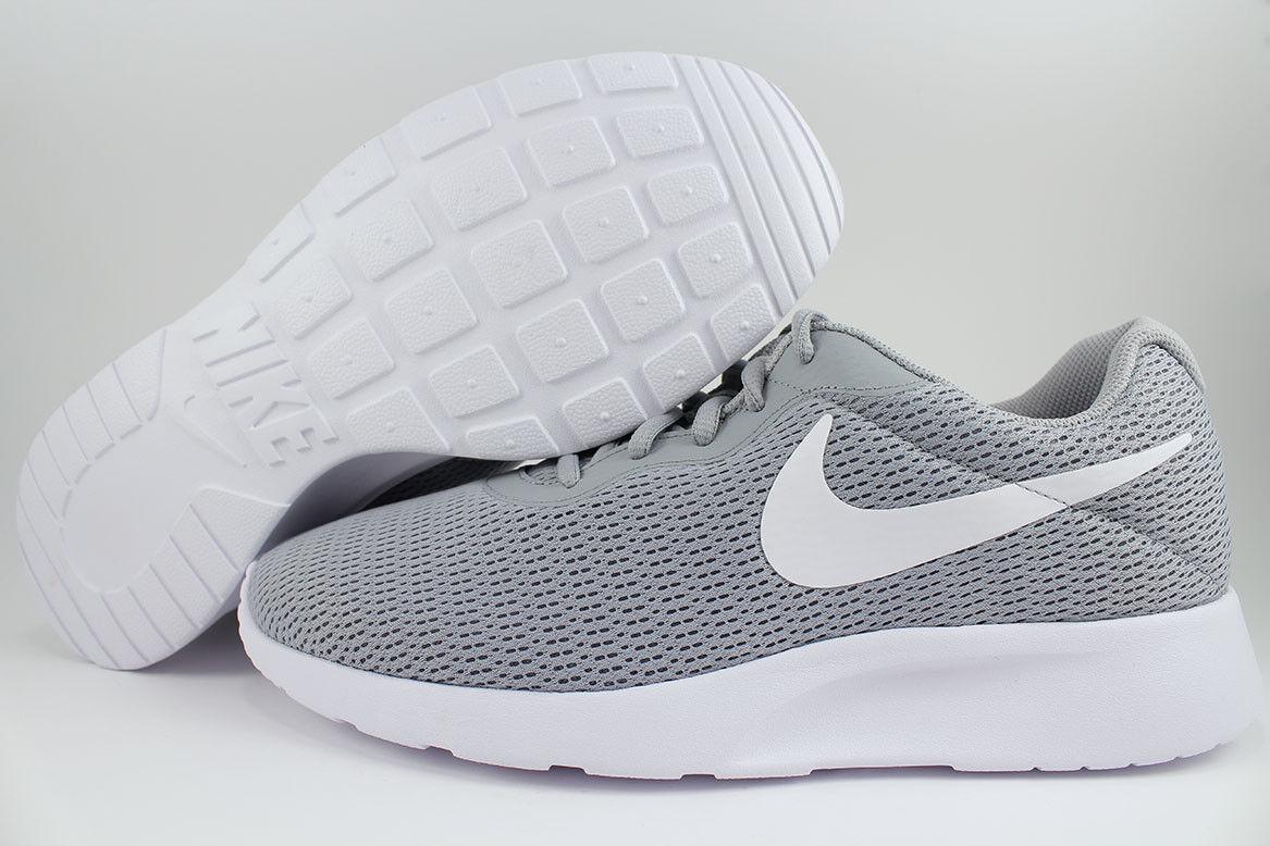 Nike tanjun extra breite 4e eeee wolf grau / weiß roshe eins zwei rennen uns männer größe