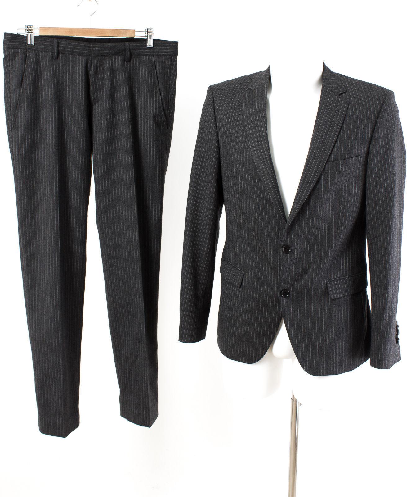 THEO WORMLAND Anzug Slim Fit Gr. S   48 SUPER 130'S Sakko Hose Business Suit