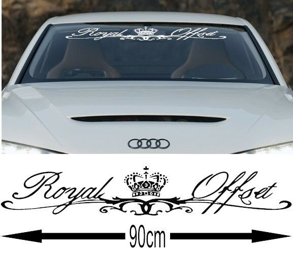 Royal offset racing stickers window graphic jdm bmw audi vinyl sponsor decals