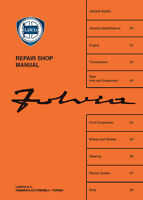 Lancia Fulvia Factory Workshop Manual