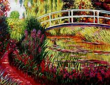 "Claude Monet  reproductions  Oil Painting - Japanese Bridge - size 36""x28"""