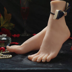 High-Quality-Realistic-Silicone-Female-Mannequin-Feet-Model-Shoes-Sock-Displays