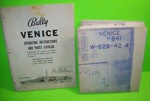Bally-VENICE-1968-Original-Bingo-Game-Pinball-Machine-Service-Manual-amp-Schematic