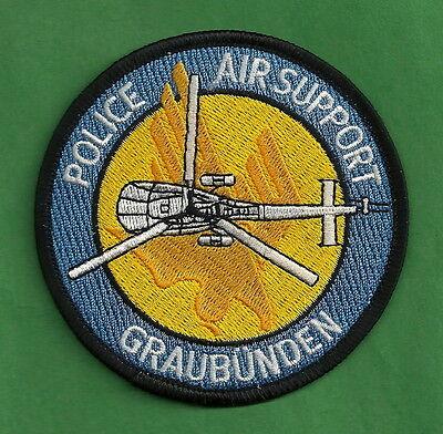 * GRAUBUNDEN SWITZERLAND POLICE AIR SUPPORT Helicopter