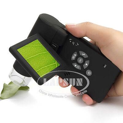 "500X 5MP Portable Digital Mobile Microscope Set HD Camera Foldable 3"" LCD Screen"