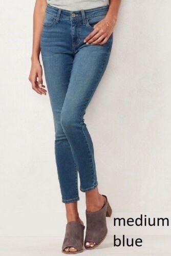 NEW Women/'s LC Lauren Conrad Ultrasoft Ankle Jegging Jeans Med Blue MSRP $50