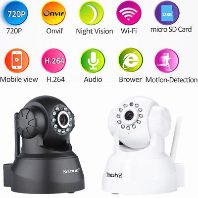 Sricam HD 720P Wifi Wireless Security IP Camera Two-Way Audio ONVIF Security Cam