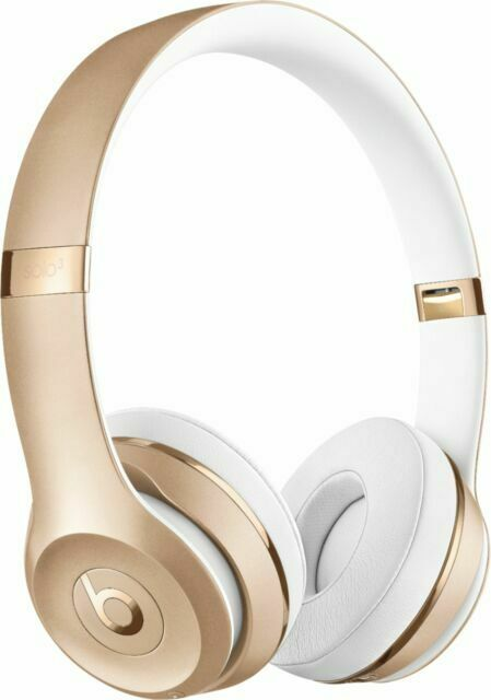 Beats By Dr Dre Solo3 On Ear Wireless Headphones Satin Gold For Sale Online Ebay