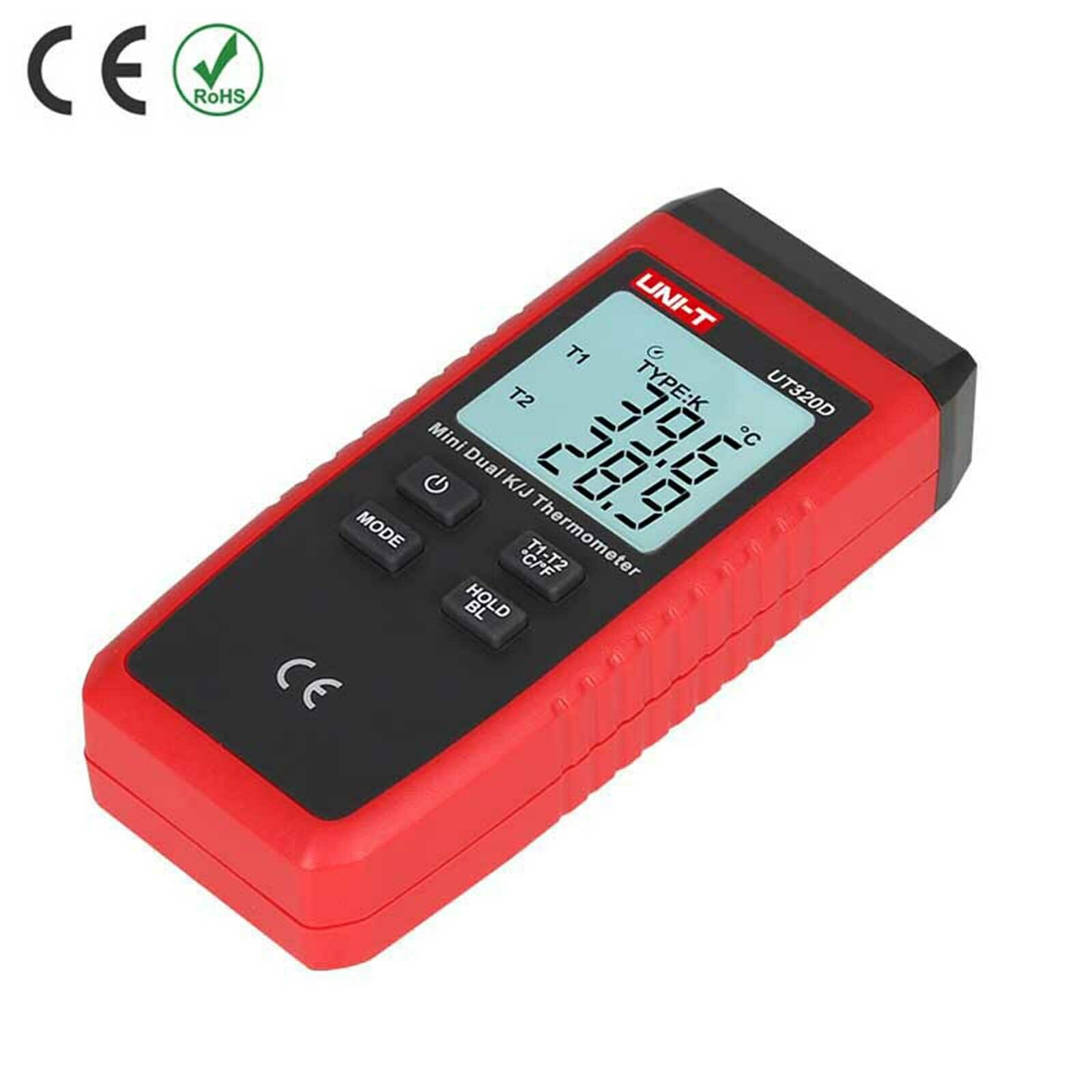 UT320D Mini Kontaktart K//J Thermometer Temperatur Messgerät Tester LCD